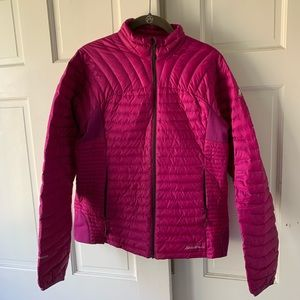 Eddie Bauer Light Weight Magenta Puffer